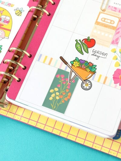 Springtime Coloring Page Stickers
