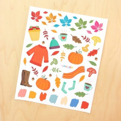 Color Fall Planner Bundle