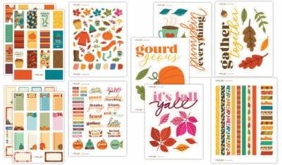 Color Fall Planner Bundle