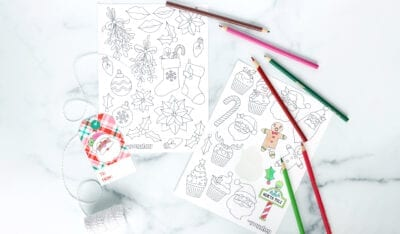 Christmas Coloring Stickers