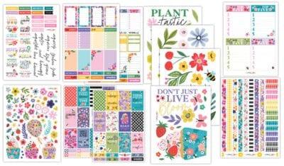 Flowers Everywhere Planner Bundle