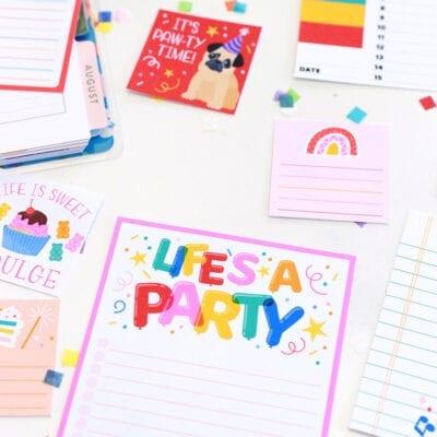 Let's Party Stationery Bundle