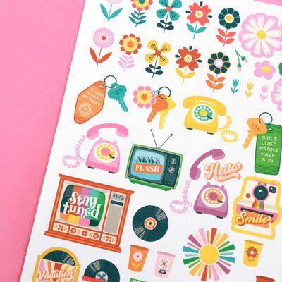 Retro Floral Planner Bundle