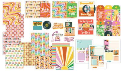 Retro Floral Stationery Bundle
