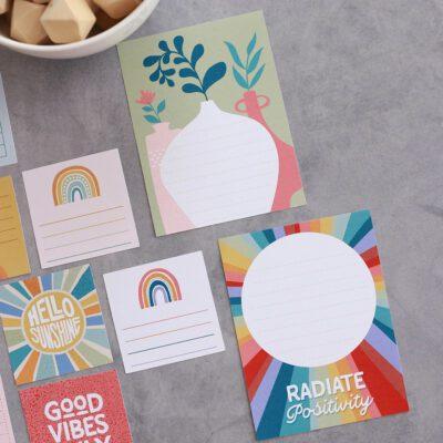 Rustic Rainbow Stationery Bundle