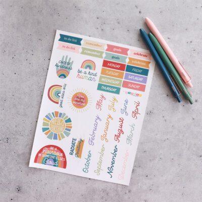 Rustic Rainbows Planner Bundle